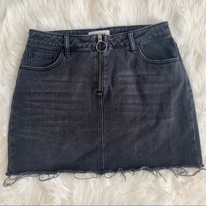 PacSun Black Denim Skirt